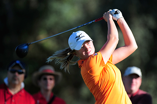 Stacy Lewis leads by three strokes after a 3-under 69.