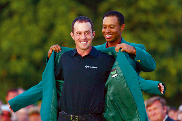 3. It's a common perception that Masters champions have to overpower the par 5s. Since 1997, that has been true for Tiger Woods, Vijay Singh, Phil Mickelson, Trevor Immelman and Angel Cabrera. But Mark O'Meara won in 1998 as the 31st-longest driver, averaging 266.6 yards. Jose Maria Olazabal averaged just 239.8 yards per drive in 1999, second-to-last in the field. In 2003, Mike Weir (pictured) averaged 271.2 yards, 39th, and Zach Johnson in 2007 averaged 265.0 yards — only three players were shorter. But he was still 11 under on the par 5s.