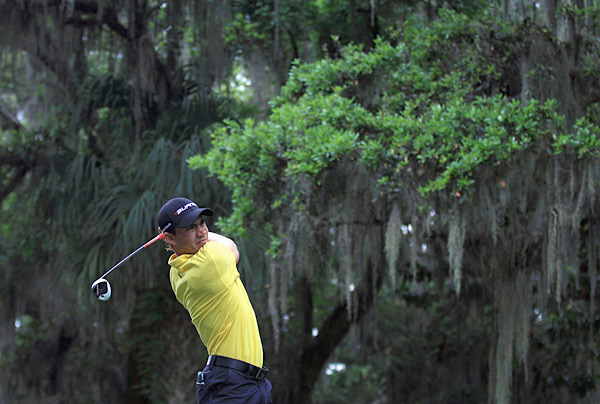 Camilo Villegas is tied with Furyk and Day at eight under after a round of 68.