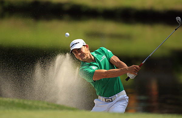 Camilo Villegas was three over on the day.