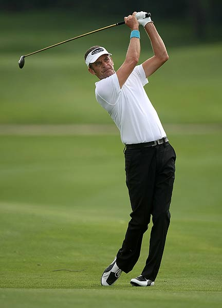 Jesper Parnevik is one stroke off the lead after a first-round 68.