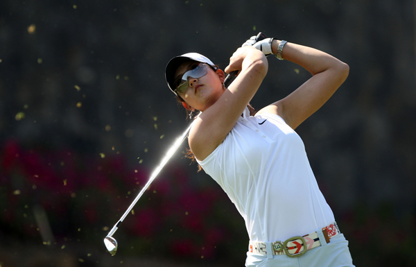 Michelle Wie made three birdies and a bogey for a 71.