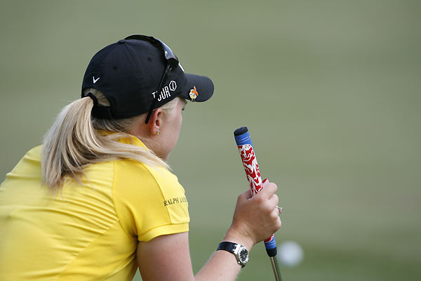 Morgan Pressel missed the cut by one shot after a 74.