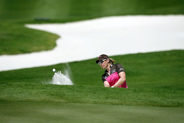 Second Round of the Stanford International Pro-AMAnnika Sorenstam opened her round with three straight birdies, and she finished one shot off the lead.