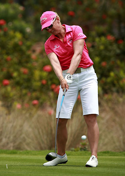 Third Round of the Stanford International Pro-AMAnnika Sorenstam grabbed a one-shot lead after a one-under 71.