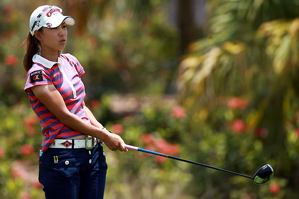 Momoko Ueda finished two shots off the lead at five under.