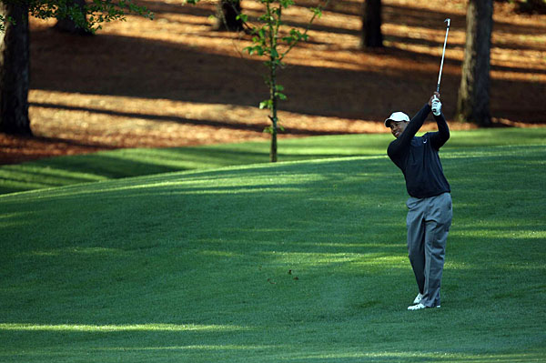Woods tees off at 7:40 a.m. Thursday with Stewart Cink and Angel Cabrera.