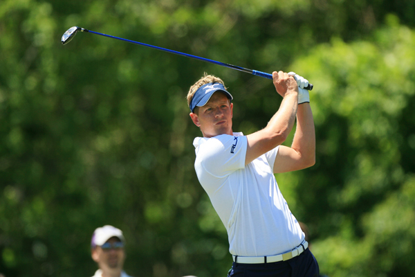 Luke Donald shot a 1-under 71, but he is only five strokes off the lead.