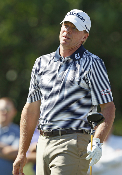 Steve Stricker is four strokes back after a 4-under 68.
