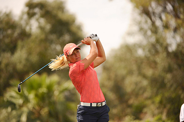 Suzann Pettersen made three birdies, a bogey and a double bogey for a 72.