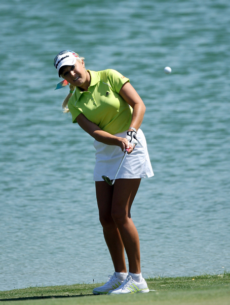 Natalie Gulbis shot a 3-over 75.