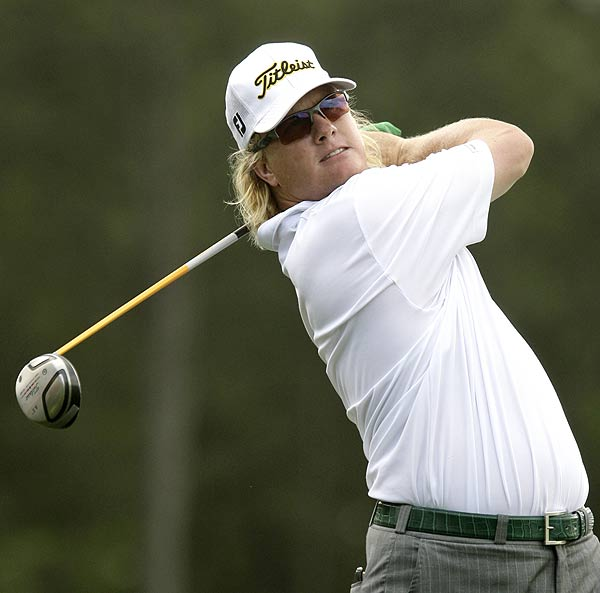 Eight birdies and one bogey left Charley Hoffman two strokes off the lead.