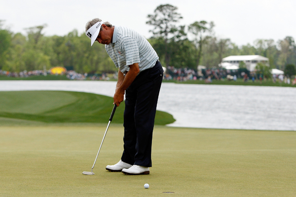 Fred Couples shot a 3-under 69 to finish one behind the leaders.