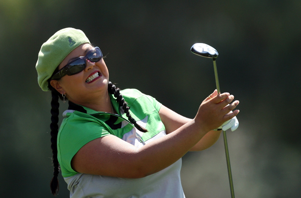 Christina Kim started the day tied for the lead, but she fell back after a 75.