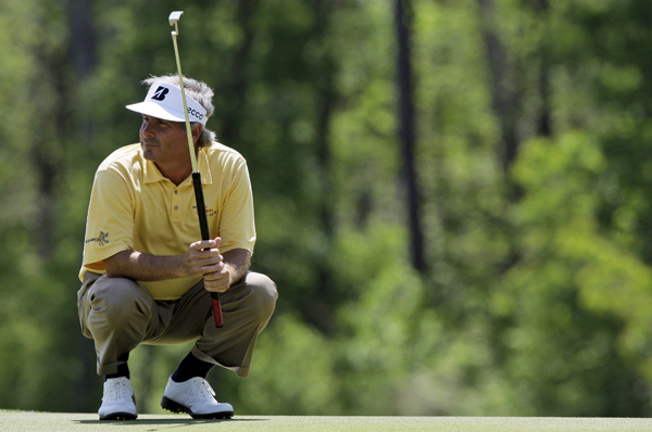 Fred Couples was in the lead until bogeys on his final three holes.