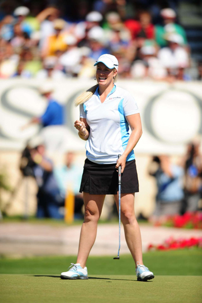 Final Round of the Kraft Nabisco Championship                     Brittany Lincicome eagled the 18th hole to win by one stroke.