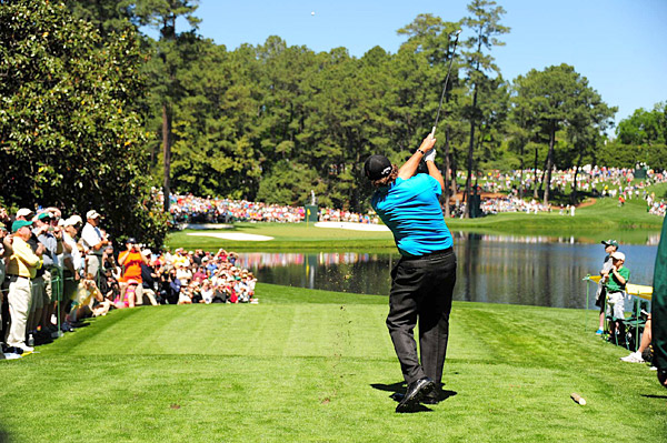 2010 Masters champion Phil Mickelson played the Par 3 contest as well.