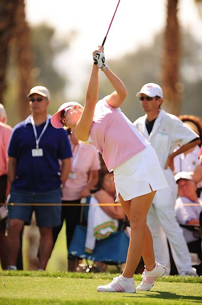 Paula Creamer went bogey, double-bogey, bogey on Nos. 4-6, but came back with three birdies on the back nine. She ended the tournament at four over par.