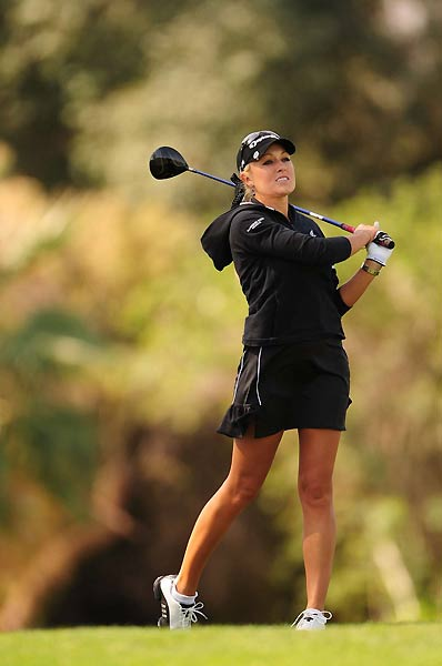 Natalie Gulbis ended the tournament tied with Karrie Webb at one over par.
