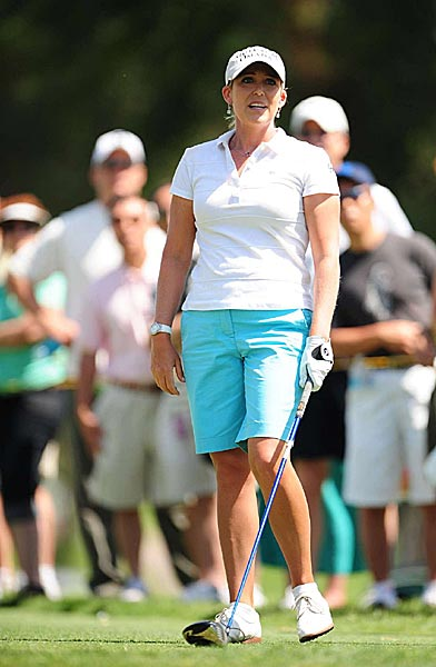 Cristie Kerr was in the final group but played terribly on Sunday. She shot 80 with a quadruple-bogey 7 at the par-3 fifth hole.