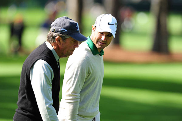 Gary Player and defending champion Trevor Immelman were out on Monday morning.