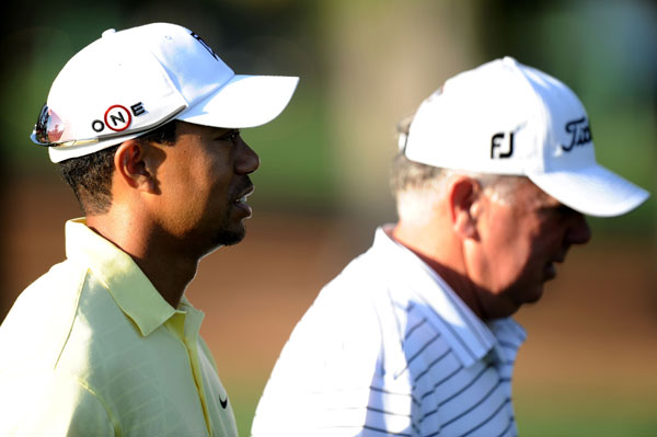 played with Woods on Tuesday. O'Meara and Woods also played the back nine on Sunday.