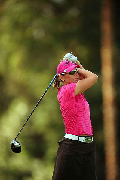 Annika Sorenstam, who missed this birdie putt on the 10th, finished in second place, five strokes behind Ochoa.