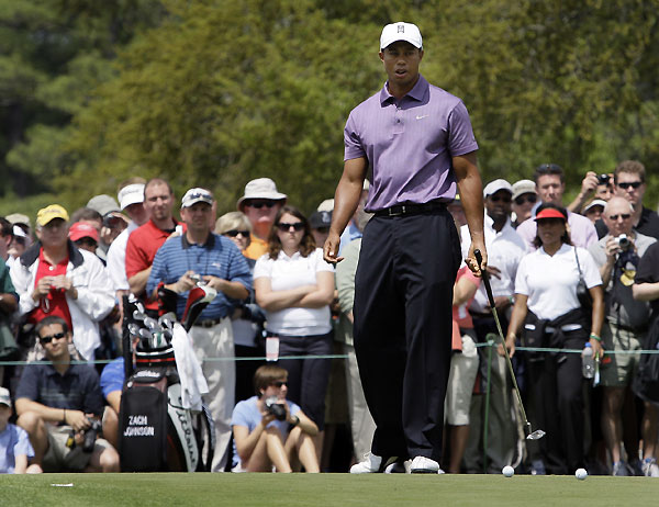 Masters Preparations: WednesdayTiger Woods didn't play on Wednesday, but he did spend some time practicing.