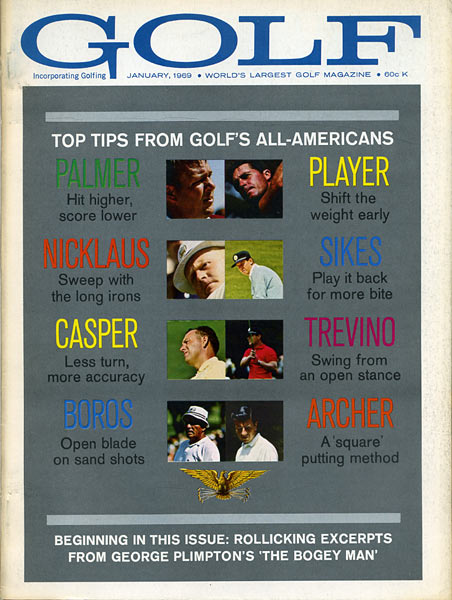 Arnold Palmer, GOLF Magazine, January 1969
