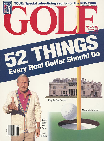 Arnold Palmer, GOLF Magazine, January 1992