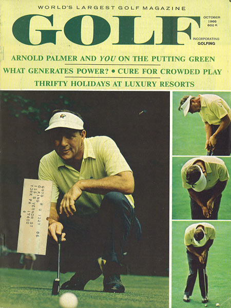 Arnold Palmer, GOLF Magazine, October 1966