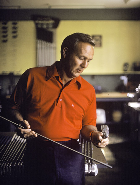 Palmer in his basement workshop in 1967.