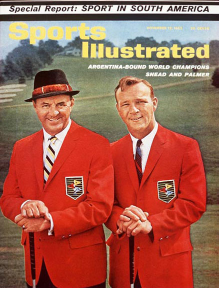 November 12, 1962: Argentina-bound World Champions Snead and Palmer