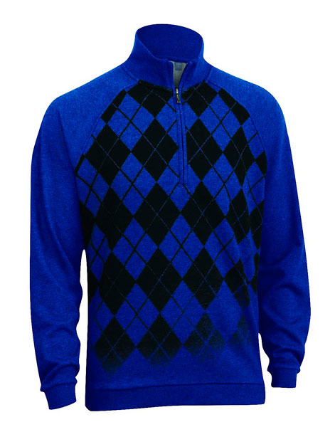 "Ashworth French Terry Argyle Pullover                       $80, ashworthgolf.com                       Nothing says ""golfer"" like an argyle sweater, and while the traditional staple has gone through many colorful iterations, Ashworth's cotton and polyester offering modernizes the classic style with a half-zip and trendy fade-away print."