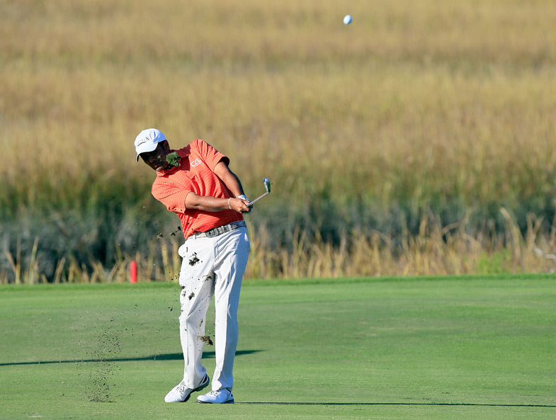 Arjun Atwal shot a seven-under 63 to grab the 36-hole lead.