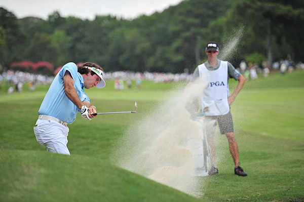 Bubba Watson shot a two-under 68 to make the cut.