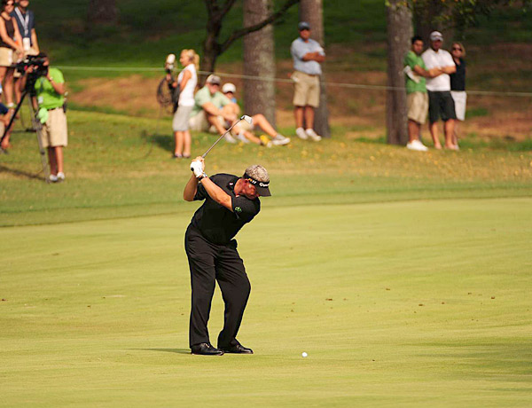 Darren Clarke shot a 76 to move to 14 over for the tournament.