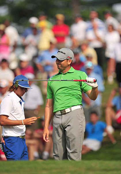 Sergio Garcia shot a 69 that included three birdies and a double bogey.