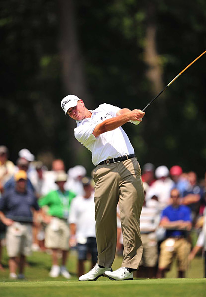 Steve Stricker shot a disappointing 74 on Friday, 11 shots more than his first round score.