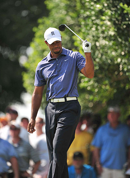 Tiger looked lost for much of the day, seemingly unable to solve any of his on course problems.