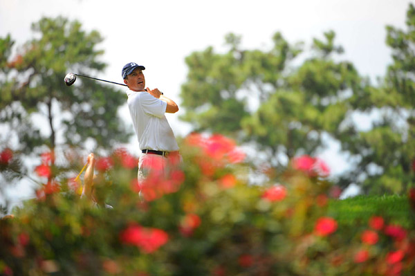 Matt Kuchar made bogey at the 18th to finish at even par.