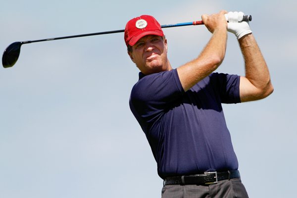 won the PGA in 1995, and he found himself in the hunt again on Sunday. But he bogeyed the last two holes to shoot a 71.
