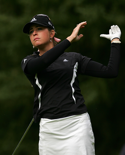 Paula Creamer shot a bogey-free 64 to finish at three under par.