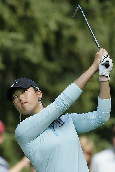 Wie double-bogeyed again on her final hole, finishing at four over par.
