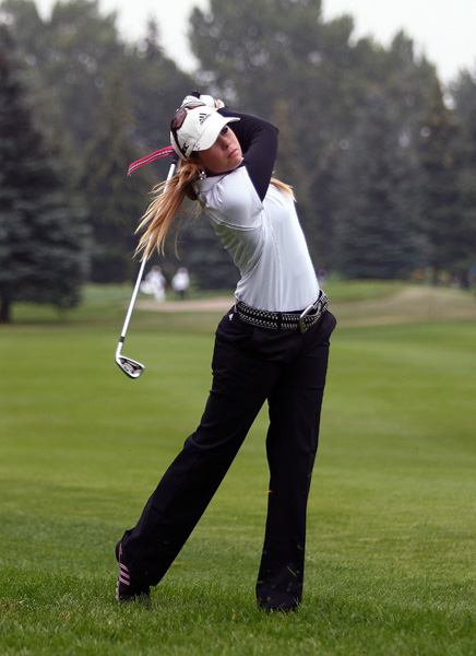 Paula Creamer shot a bogey-free 66, but she is still four back of Ochoa.
