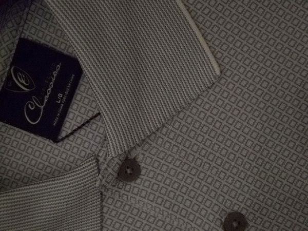 Small patterned designs, especially mini-checks, were everywhere, including this graphic micro-square shirt from Cleveland Classics.