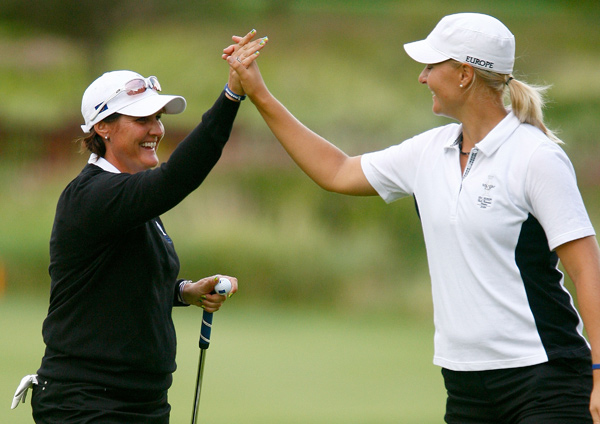 Maria Hjorth, Anna Nordqvist beat Kristy McPherson and Brittany Lincicome, 3&2.