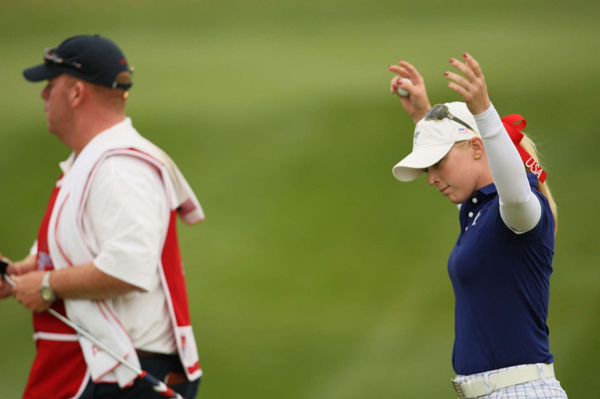 It wasn't all doom and gloom in the afternoon matches for the U.S. Morgan Pressel and Kristy McPherson defeated Helen Alfredsson and Suzann Pettersen, 2 up.