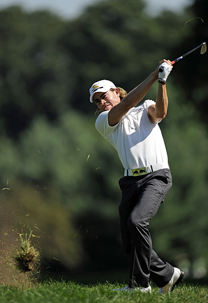 Camilo Villegas needed a mighty swing to get out of the rough. He shot a one-over 72.
