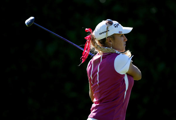 Natalie Gulbis bogeyed two holes on the back nine to shoot 71.